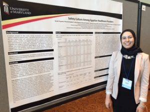 Sarah El-Gendi and her poster at ACCP Annual Meeting 2016.